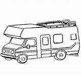 Caravana Caravane Colorear Acolore Motorhome Colored Dibuix Stampare Dibuixos Coloritou Pitturato Coloringcrew sketch template