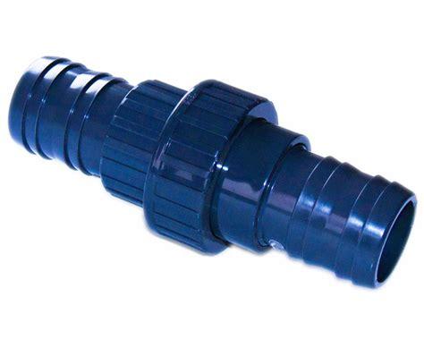 schlauchverbinder mit verschraubung  mit mm teich filter