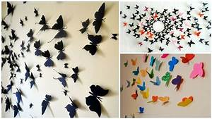 Diy butterfly wall decor diply