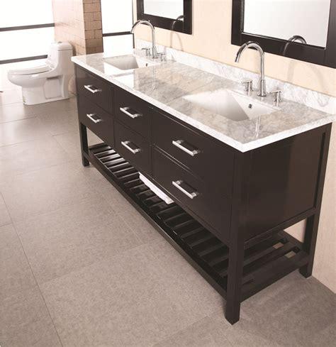 "72"" London (dec077b) Double Sink Vanity Set Bathroom"