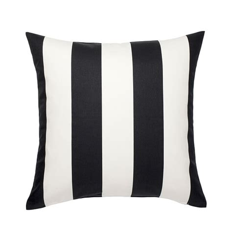 black and white pillows ikea ikea vargyllen decorative pillow cover cushion cover 20x20 quot black white stripe ebay