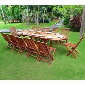 Salon Jardin Teck : salon de jardin en teck sumatra huil avec table double ~ Melissatoandfro.com Idées de Décoration
