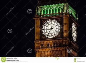 Bigben Clock Tower At Night. Stock Photo - Image of bigben ...