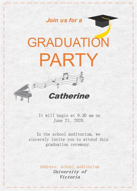 graduation celebration invitation  graduation