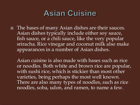 characteristics of cuisine characteristics of cuisine