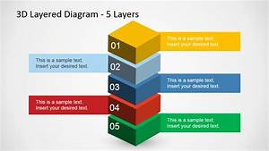 5 Levels 3d Layered Diagram For Powerpoint