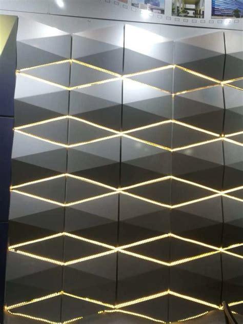 design aluminium composite panel wall cladding material  led lighting decoration