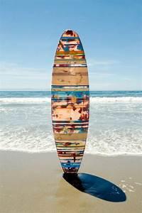 Planche Surf Deco : d co planche de surf id es comment recycler l 39 ancienne planche ~ Teatrodelosmanantiales.com Idées de Décoration