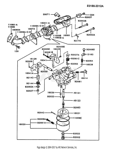 Two Cycle Carburetor Diagram by Kawasaki Fb460v Bs32 4 Stroke Engine Fb460v Parts Diagram