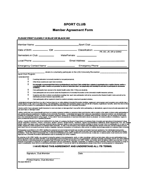 2020 Sport Contract Template - Fillable, Printable PDF & Forms | Handypdf