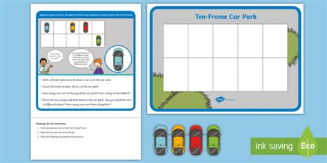 * New * Eyfs Maths Addition Challenge Parking Cars