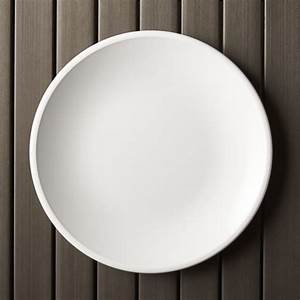 Lunea Melamine White 105quot Dinner Plate Crate And Barrel