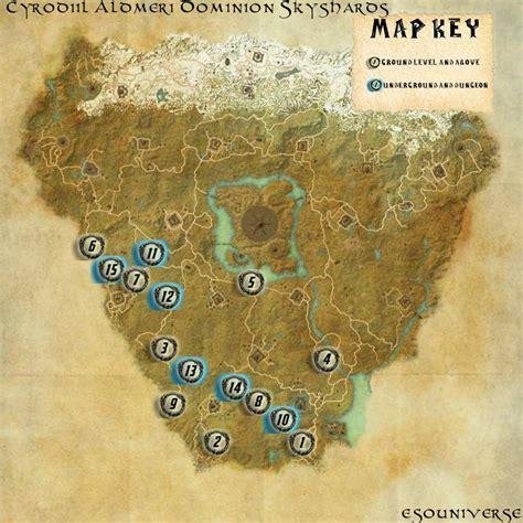 elder scrolls  cyrodiil aldmeri skyshard guides