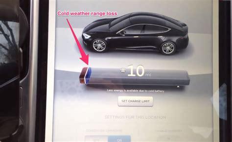 tesla model s cold weather battery indicator bar
