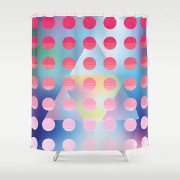 pink polka from society6 shower curtains