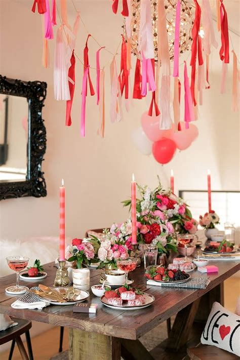 ideas decorativas  celebrar san valentin en casa