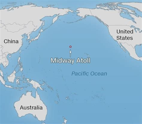 Midway Island Pacific Ocean Map