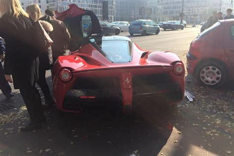laferrari crash updated laferrari crash driver loses control in budapest