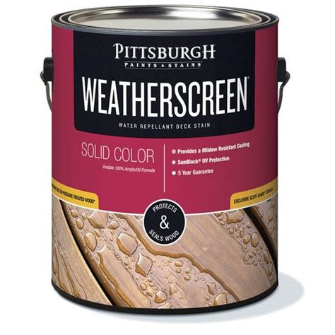 pittsburgh paints stains weatherscreen solid color