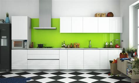Kitchen Backsplash Ideas For White Cabinets - buy carmen straight kitchen online in india livspace com