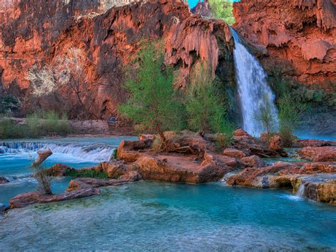 Havasu Falls, Arizona,usa Desktop Wallpaper Backgrounds