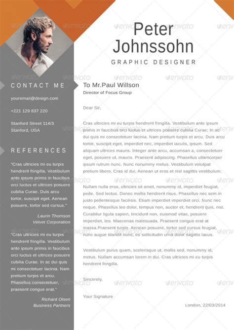 graphic design cover letter 20 resume cover letter template word eps ai and psd 7960