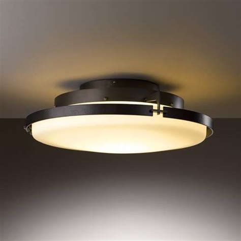 metra large flush mount led ceiling light by hubbardton