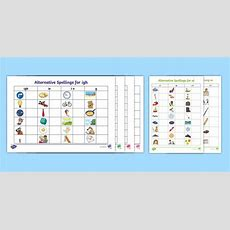 * New * Phase 5 Alternative Spellings Table Activity Pack