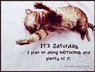 It's Saturday funny quote humor saturday do nothing ...