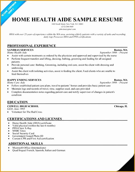 Sle Resume Healthcare by 7 Health Care Resume Objective Sle Free Sles