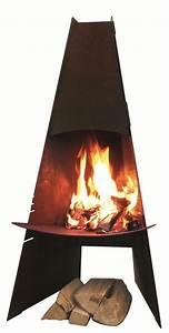 Cheminee Exterieur Bois : chemin e de plein air r f chauffage po les bois ~ Premium-room.com Idées de Décoration