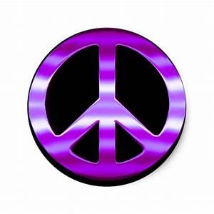 Pretty Purple Peace Sign Stickers | Zazzle