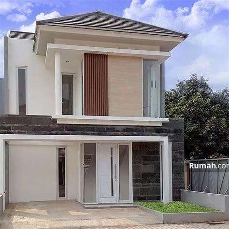 model rumah tingkat  minimalis mungil type  desain