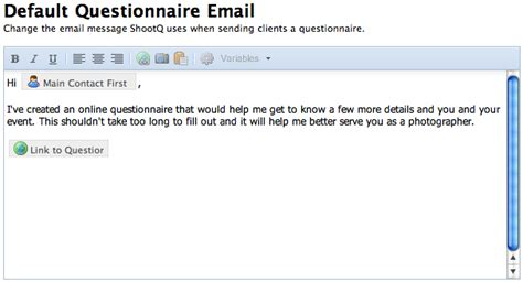 Email Questionnaire Template by Image Gallery Email Questionnaires