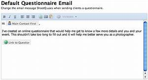 image gallery email questionnaires With email questionnaire template