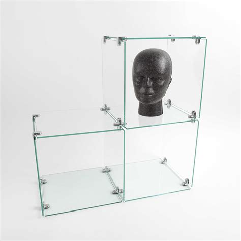 glass cube display buy a triangle shaped three glass cube display display 1226