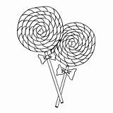 Coloring Lollipop Pages Candy Swirl Lollipops Getcoloringpages Printable sketch template