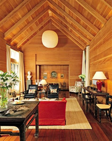 decorating a wood paneled living room
