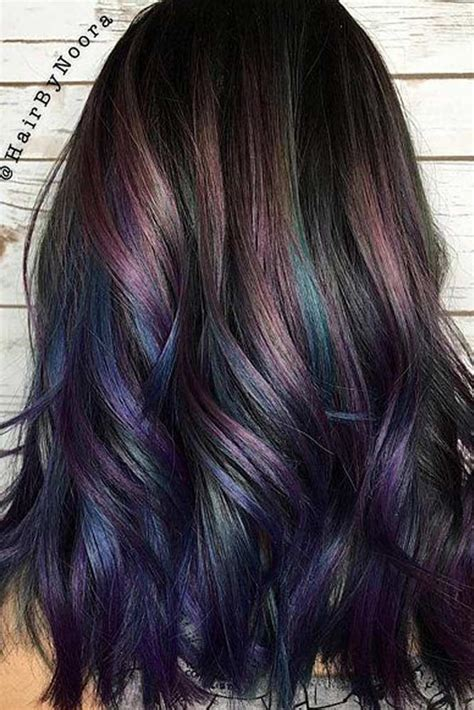 hair color ideas  brunettes hair peacock hair