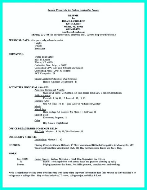 Resume Application by Awesome Write Properly Your Accomplishments In College