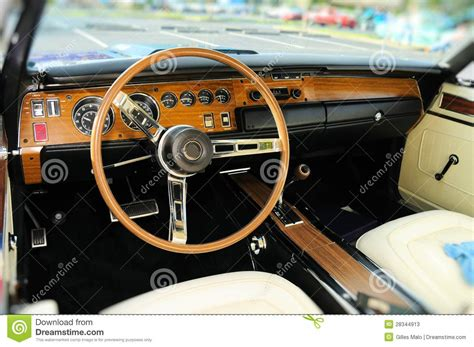 Sports Car Interior In Swede Leather Stock Image