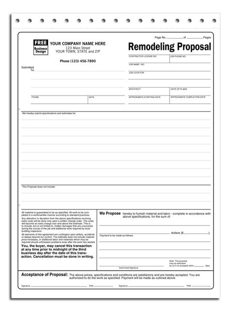 contractor proposal form charlotte clergy coalition
