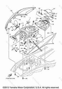 Yamaha Waverunner 2004 Oem Parts Diagram For Engine Hatch 1