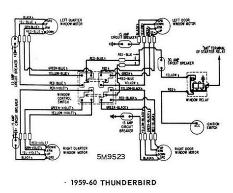 Thunderbird Relay Wiring by Windows Wiring Diagram For 1959 60 Ford Thunderbird All