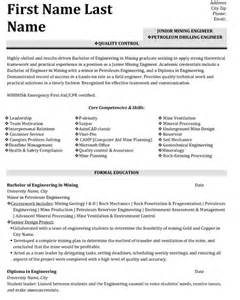 Top Mining Resume Templates Samples