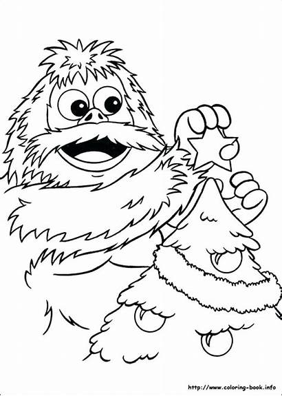Coloring Rudolph Reindeer Pages Nosed Abominable Snowman