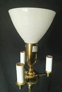 Candelabra Solar Lights Stiffel Floor Lamp Torchiere Mogul Mid Century Brass Pole
