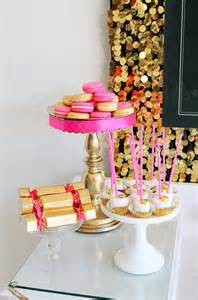 pink gold birthday decor b a s