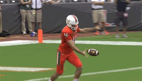 miami punter executed ridiculous  degree flop