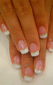 French Tips with Gold Glitter. | Repurposed | Pinterest ...